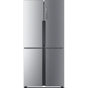 HAIER HTF-456DM6 60/40 Fridge Freezer - Stainless Steel